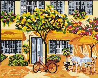 Large Alfresco acrylic (2013 New DIY paint by number 16*20'' kit) Arts, Crafts & Sewing