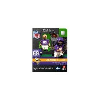 Compatable with Lego Minifigures, NFL Football Minnesota Vikings: Jared Allen Additional Images New #69 Jared Allen Defensive End Generation One Limited Edition OYO Minifigure. Part of the First Football Oyos Released! Figure Comes with a Football, Team He