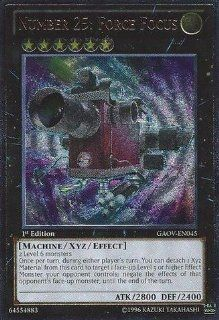 Yu Gi Oh!   Number 25: Force Focus (GAOV EN045)   Galactic Overlord   Unlimited Edition   Ultimate Rare: Toys & Games