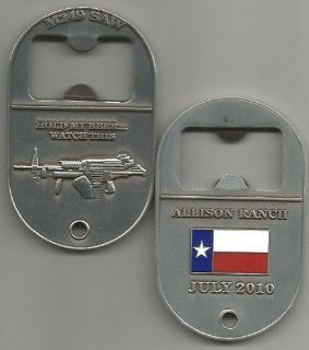 Allison Ranch Machinegun Shoot M249 SAW Bottle Opener Challenge Coin : Collectible Coins : Everything Else
