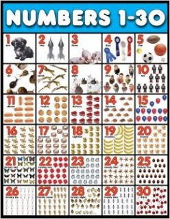 Numbers 1 30 Cheap Chart (Cheap Charts): School Specialty Publishing: 9780768233575: Books