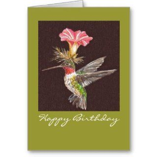 hummingbird Happy Birthday card : Greeting Cards : Office Products