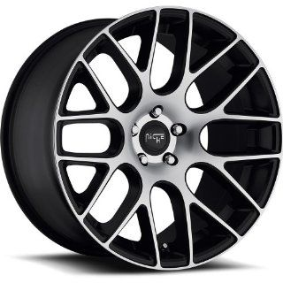 Niche Circuit 20 Machined Black Wheel / Rim 5x4.5 with a 35mm Offset and a 72.60 Hub Bore. Partnumber M108208565+35: Automotive