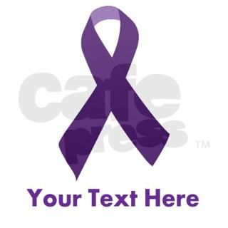 Purple ribbon for awareness Decal by designsanddesigns