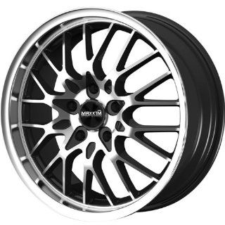Maxxim Chance 17 Machined Black Wheel / Rim 5x112 & 5x4.5 with a 40mm Offset and a 73.10 Hub Bore. Partnumber CN77T24405: Automotive