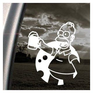 The Simpsons Decal Homer Simpson Beer Window Sticker: Automotive