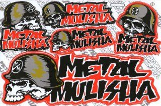 "Big Bike Metal Mulisha Skull Head Motor Cycle Logo Decal Stickers Decals /Size 10.5"" X 7"""