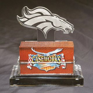 Denver Broncos NFL Logo Desktop Acrylic Business Card Holder