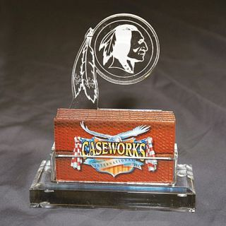 Washington Redskins NFL Logo Desktop Acrylic Business Card Holder