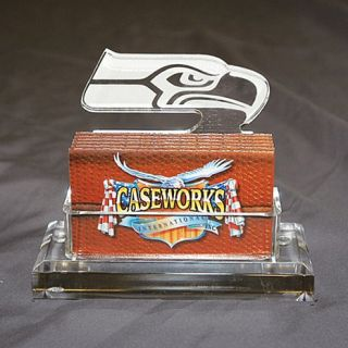 Seattle Seahawks NFL Logo Desktop Acrylic Business Card Holder