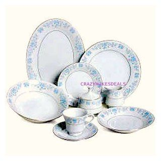 Lynn's Helen 50 PC Fine China Dinnerware Set (Place Settings for 6 and completer sets): Everything Else