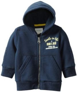 Diesel Baby boys Infant Sewyb Heavy Dyed Smile In Life Zip Hooded Sweatshirt: Clothing