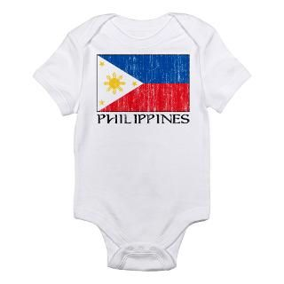 Filipino Flag Baby Bodysuits  Filipino Flag One Piece Infant Bodysuits