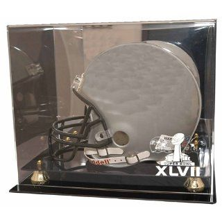 Sb47 Ravens Vs. 49Ers Dueling Deluxe Full Size Helmet Display Case