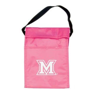 Miami University Koozie Pink Lunch Sack 'M' : Sports Fan Lunchboxes : Sports & Outdoors