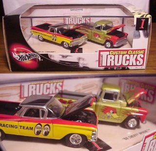 '59 EL CAMINO & '69 CHEVY APACHE * Limited Edition * Hot Wheels 2002 PETERSEN'S CUSTOM CLASSIC TRUCKS MAGAZINE 1:64 Scale 2 Car Custom Vehicle Box Set: Toys & Games