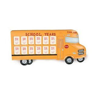 Yellow School Bus Shaped Picture Frame   Holds Child's Photos 1st 12th Grade: Everything Else