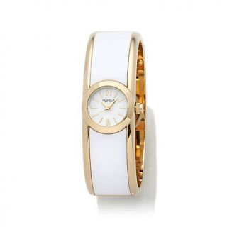 Caravelle New York by Bulova Ladies' Round Dial White and Goldtone Bangle Watch