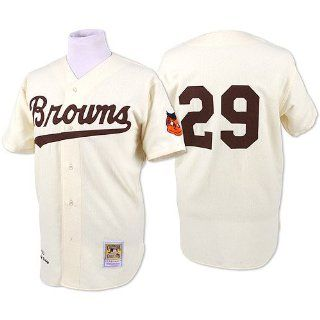 Satchel Paige Browns 1953 Jersey Mitchell & Ness 44: Sports & Outdoors