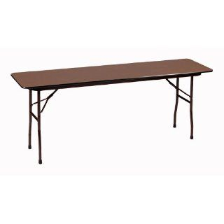"Correll CF1872M 01 Melamine Fixed Height Top Folding Seminar Table, Rectangular, 18"" Width x 72"" Length x 29"" Height, Walnut: Industrial & Scientific"