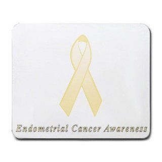 Endometrial Cancer Awareness Ribbon Mouse Pad : Office Products