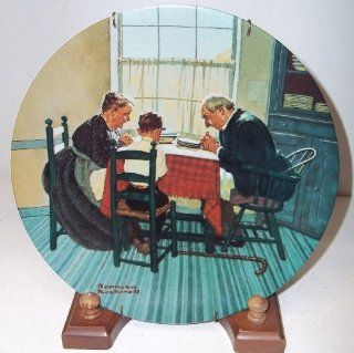 "Norman Rockwell ""Family Grace"" Plate: Everything Else"