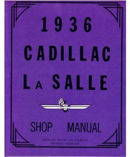 1936 Cadillac Lasalle 60 70 75 80 90 Shop Service Repair Manual Factory OEM Book Automotive