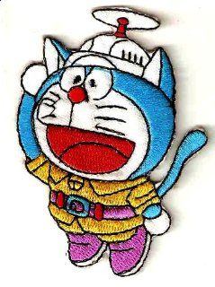 Doraemon Robot Cat w propeller hat Iron On / Sew On Patch ~ Nobita Nobi: Everything Else