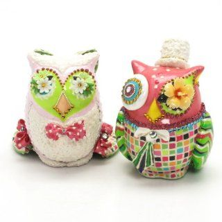 Wedding Owl Cake Toppers Bride and Groom Ceramic Centerpiece Handmade A00012 Ceramic Handmade Hand Painted Wedding Scheme Ceramic Figurine Decoration Art and Craft Anniversary Gifts: Everything Else