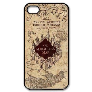 Personalized Harry Potter Marauders Map Hard Case for Apple iphone 4/4s case BB082: Cell Phones & Accessories