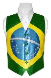 Boy's Brazilian Flag Dress Vest for Suit or Tuxedo Clothing