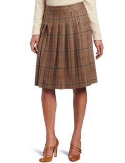 Pendleton Women's Stitched Pleat Skirt, Stitched Multi Worsted Plaid, 8 at  Women�s Clothing store