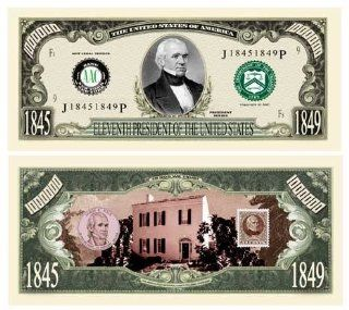 DDI James Polk Million Dollar Bill Case Pack 100: Electronics
