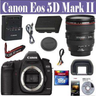 Canon EOS 5D Mark II 21.1MP Full Frame CMOS Digital SLR Camera with EF 24 105mm f/4 L IS USM Lens + 16 GIG Memory Card: Camera & Photo