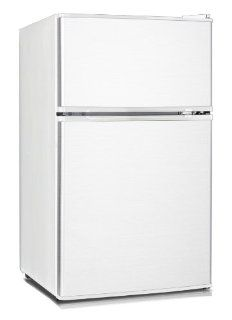 Midea HD 113F Full Size Double Reversible Door Refrigerator and Freezer, 3.1 Cubic Feet, White: Appliances