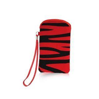 Foxchip   Housse/Etui gamme ZEBRE Rouge/Noir taille L 116 x 63 x 13 mm   3610008879422: Electronics