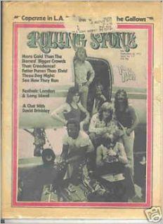 ROLLING STONE MAGAZINE ISSUE # 117      SEPTEMBER 14TH, 1972    3 DOG NIGHT COVER Rolling Stone Magazine Books