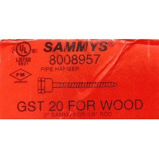 "Sammys Fasteners #12 GST20 2"" For Wood 3/8"" Rod QTY 125 per box: Industrial & Scientific"