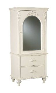 American Woodcrafters 10300 121 Wardrobe with Mirror and 2 Drawers, Cheri   Bedroom Armoires