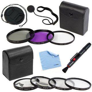 BIRUGEAR 72mm Lens Accessory Bundle Kit for Canon EOS 5D Mark II, 5D Mark III or Canon 18 200mm, 28 135mm, 28 200mm Lenses.[Includes:72mm 4PC Macro Filter Set +3PC Filter Set+Lens Cap+Holder+Lens Pen+ Cloth ]: Camera & Photo
