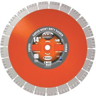 Diamond Products Core Cut Diamond Product 60790 Super Heavy Duty Silver Segmented High Performance Turbo Diamond Blade 16 Inch x .125 x 1 Inch