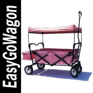 Childrens Red Pull Along Wagon. Unique Folding Design is more portable than Red Flyer. Fits in trunk of standard car. Made by EasyGoWagon.: Sports & Outdoors
