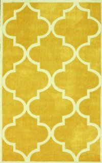 nuLOOM ACR129B Cine Collection Contemporary Fez Hand Made Area Rug, 2 Feet 8 Inch by 10 Feet, Mustard   Handmade Rugs