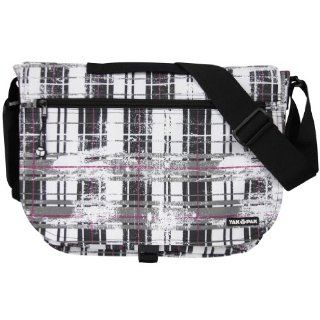 Yak Pak Basic Shoulder Bag   White Distressed Plaid   614 136: Sports & Outdoors