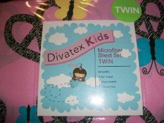 Divatex Pink Zebra Twin Size Bedding Sheet Set Peace Signs   Childrens Pillowcase And Sheet Sets