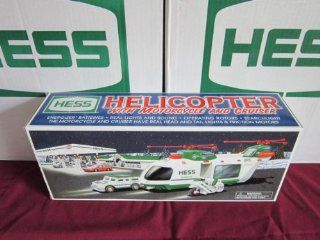 The Hess Toy Truck: Helicopter with Motorcycle and Cruiser, Limited Release 2001: Toys & Games