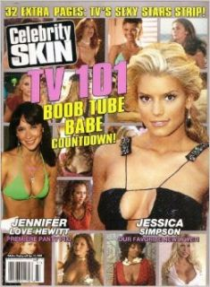 CELEBRITY SKIN MAGAZINE #137 JENNIFER LOVE HEWITT, JESSICA SIMPSON: Books