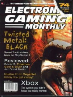 ELECTRONIC GAMING MONTHLY #138 Twisted Metal Black Xbox Pokemon Quake III 1 2001 Collectibles & Fine Art
