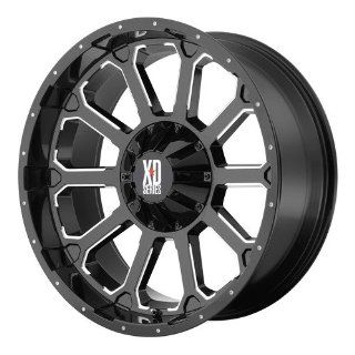 20x12 KMC XD Bomb (Gloss Black w/ Milled Accents) Wheels/Rims 6x135/139.7 (XD80621267344N): Automotive