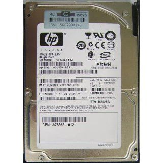 "HP Invent 146GB SAS 430165 003 10K 2.5"" Hard Drive DG146BB976 ST9146802SS: Computers & Accessories"